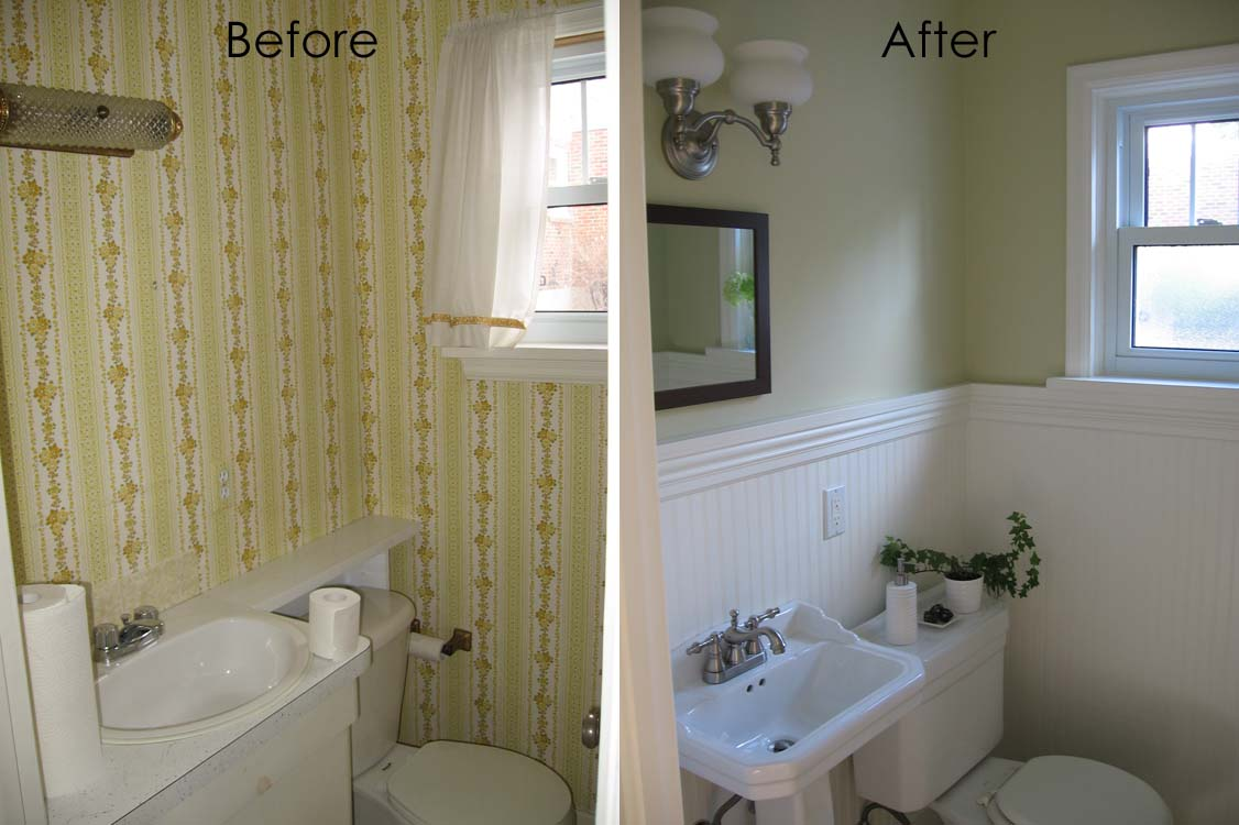 Remodelaholic complete half bath remodel guest for Youtube bathroom remodel