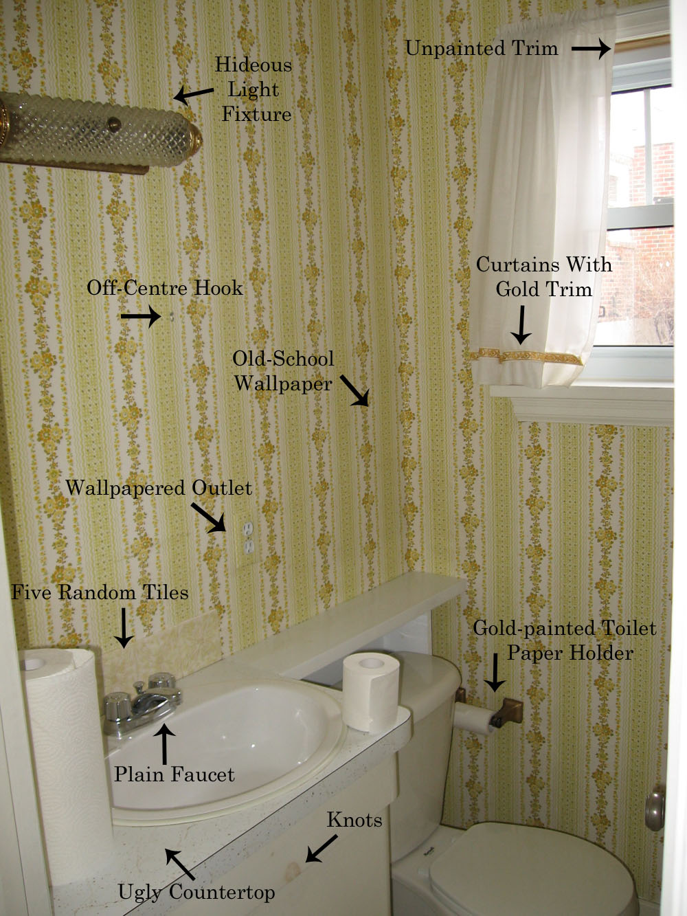 Remodelaholic complete half bath remodel guest for Small 1 2 bathroom remodel ideas