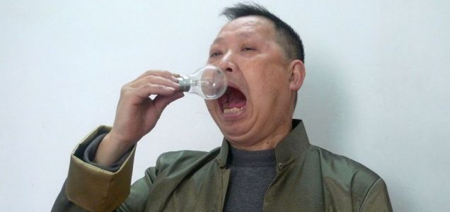 the malaysian life chinese man who eats light bulbs