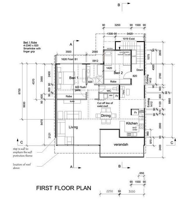 .: Proses renovation rumah.
