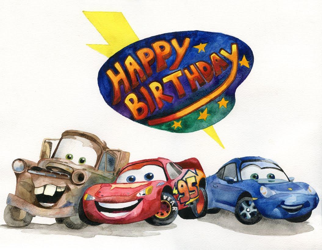 Cars A Birthday Card