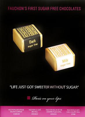 Fauchon's First Sugar Free Chocolates - Dark & MilkF by B&D? Kuwait