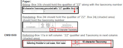 Taxonomy Guide How to enter in CMS 1500