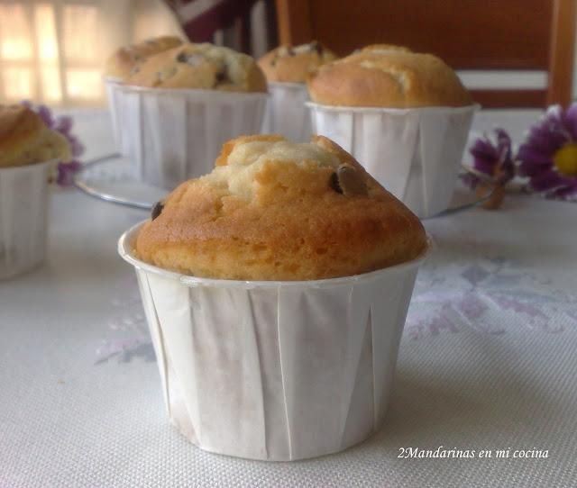 Muffins con perlas de chocolate