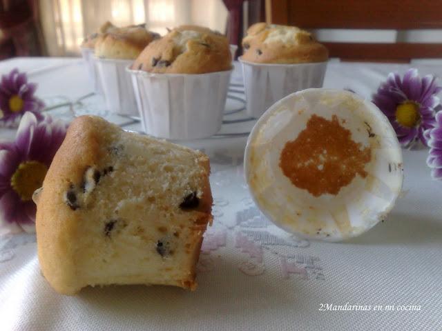 como preparar muffins con perlas de chocolate