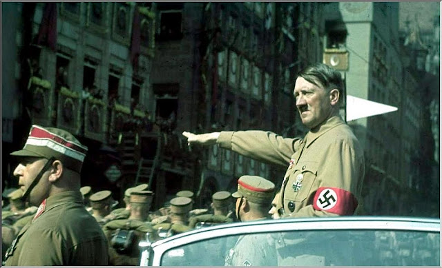 hitler takes salute september 1938