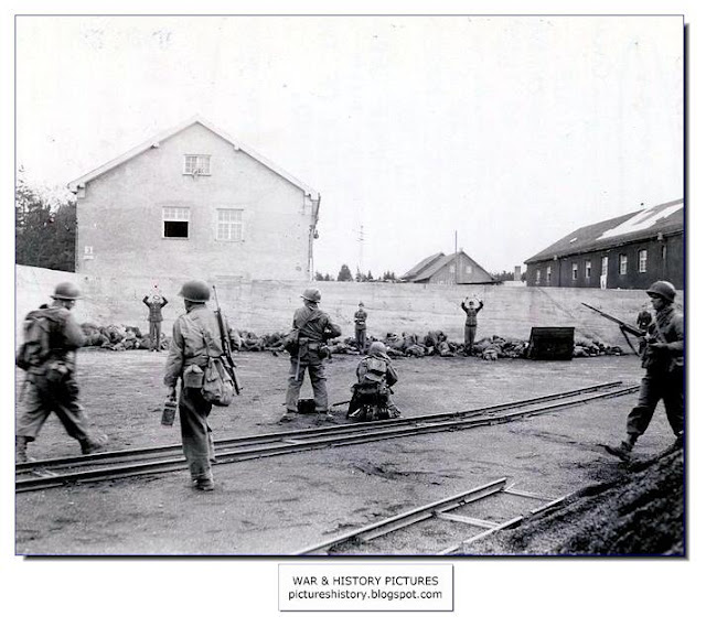 American soldiers killing SS guards Dachau