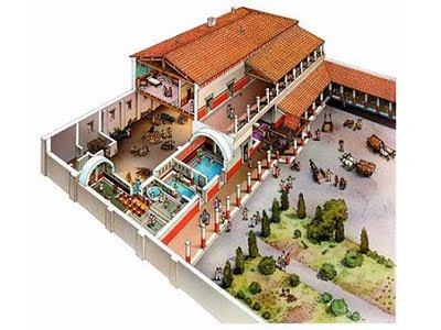 Hispania sauces la villa romana de camarzana de tera Casas griegas antiguas