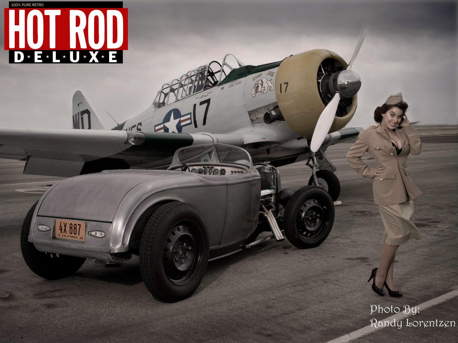 Hot rod muscules car girls - Pin up desktop backgrounds ...