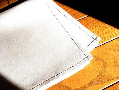 Hand Hemstitched Linen Handkerchiefs