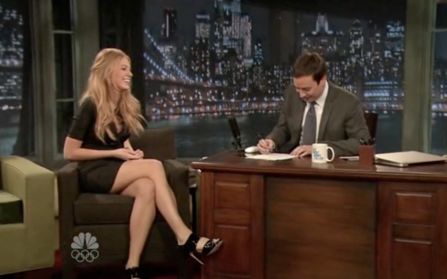 Where Style Music Meet Blake Lively On Jimmy Fallon