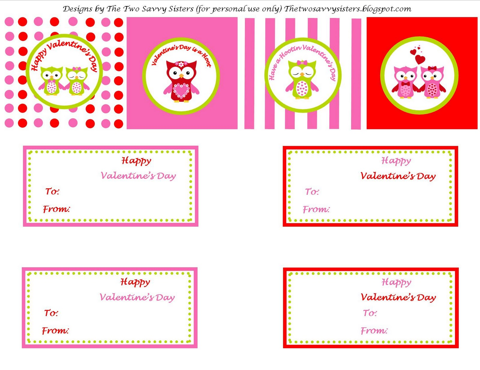 Redfly Creations Free Valentine S Day Printables