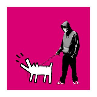 Banksy Choose Your Weapon Print Magenta