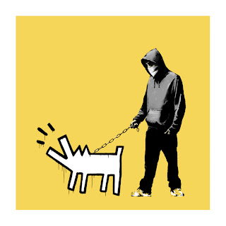 Banksy Choose Your Weapon Print Soft Yellow