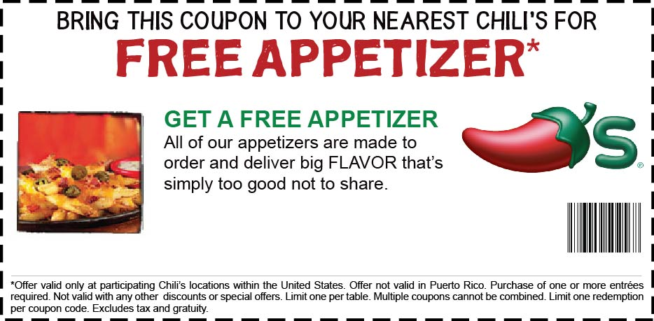 Olive Garden Menu Pdf: The Life Challenge: Chili's...FREE Appetizer Coupon