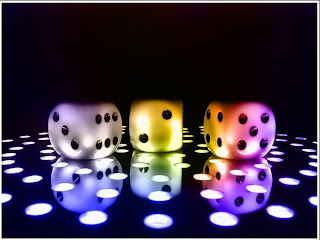 3D Colorful Dice wallpaper and photo