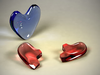 3D Hearts wallpaper
