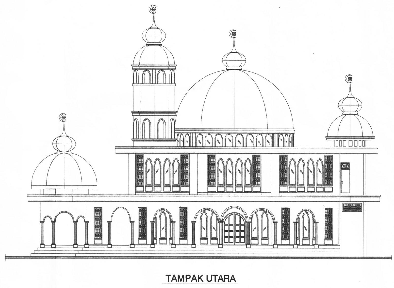 Gambar Konstruksi Masjid  masjid baitul mumin