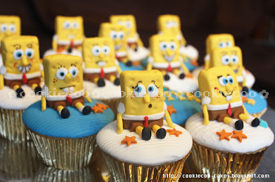 Cookiecoo Spongebob Cupcakes For Hibiya