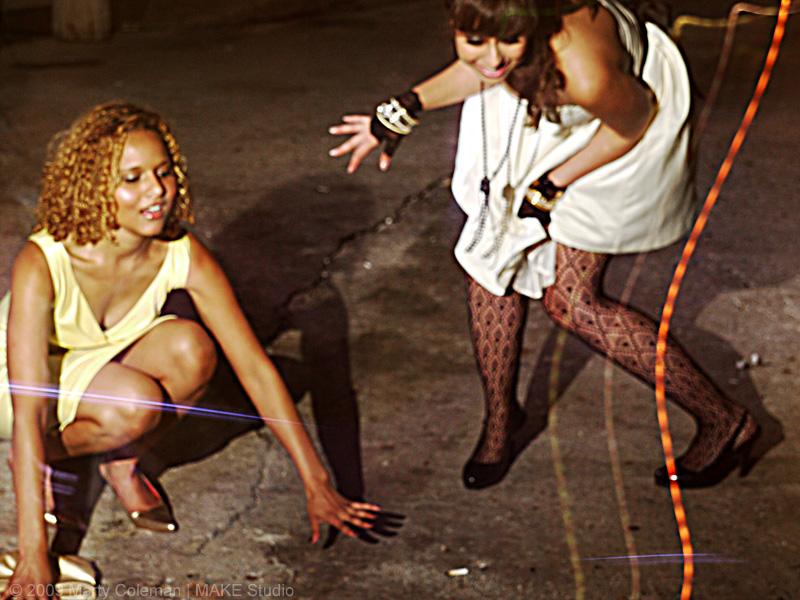 Drunk ebony girl
