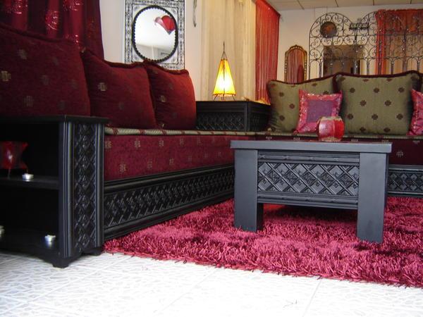 deco maison salons marocains. Black Bedroom Furniture Sets. Home Design Ideas