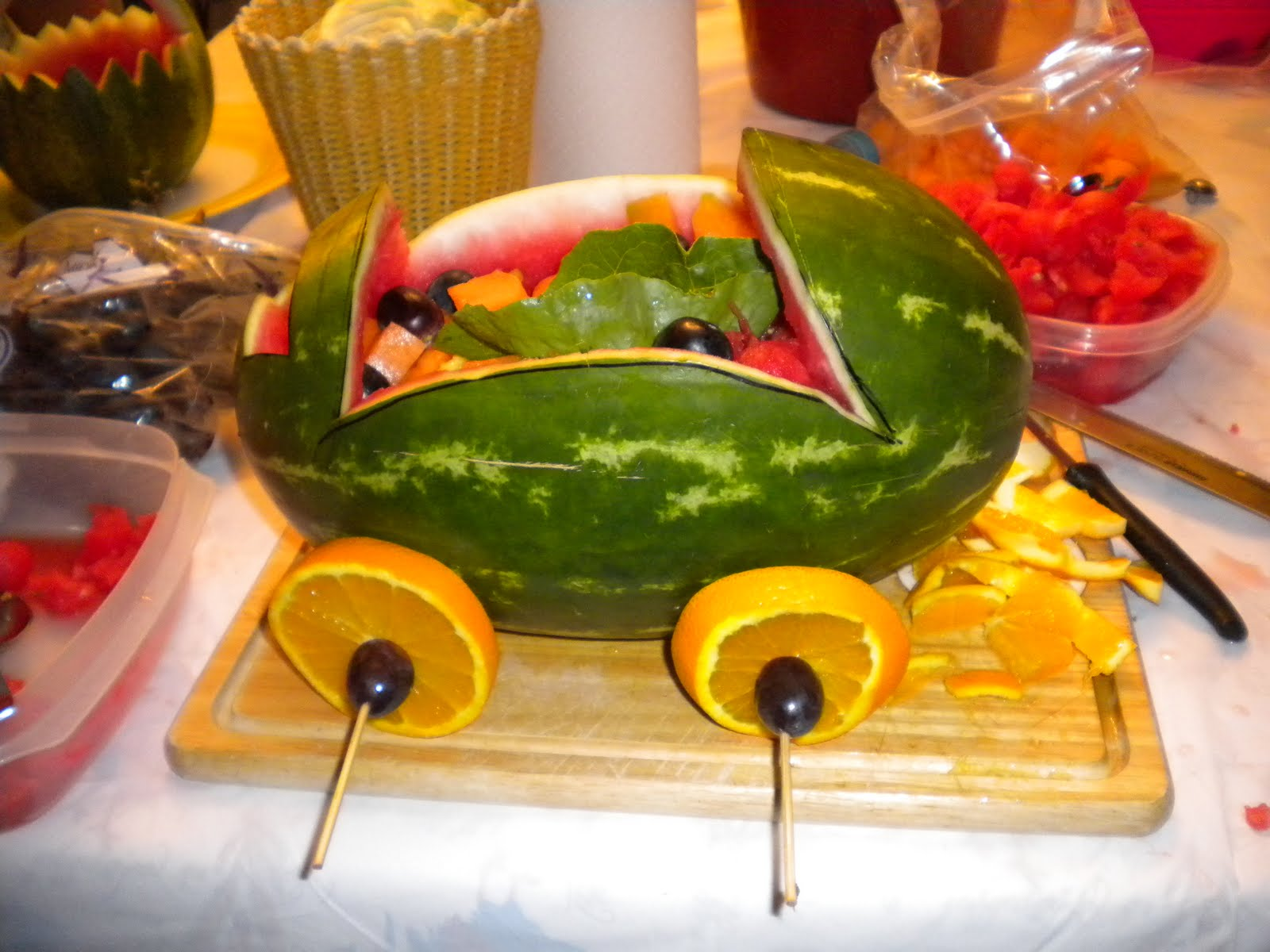 Sandias Decoradas Creatividades Latinas Carve Watermelon Baby Shower
