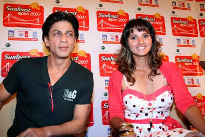 Shahrukh Khan And Sania Mirza Exclusive Photos