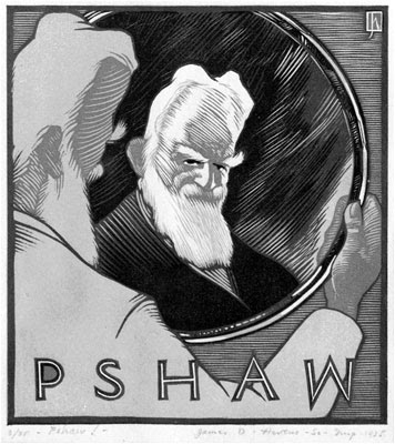 james Dexter Havens caricature of Bernard Shaw