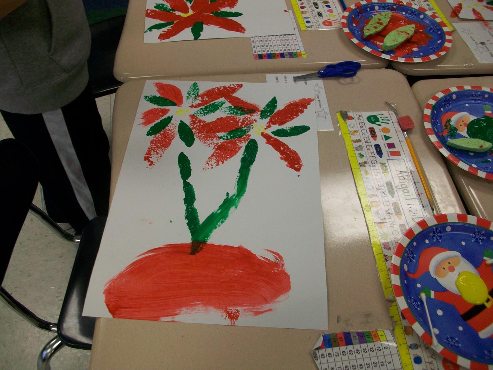 Mrs Wheeler S First Grade Tidbits Poinsettia Art