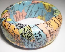 Vintage U.S. Map Decoupaged Bangle
