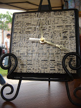 Vintage Sheet Music Clock