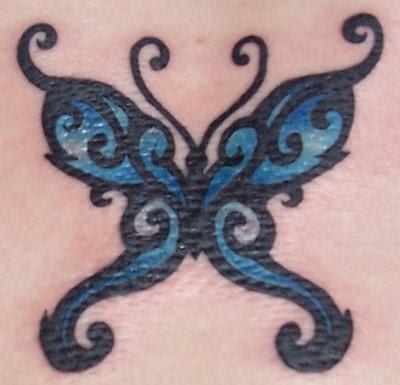 Buguru Turueng Tattoo Blue Butterfly Tattoos