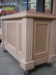 All Weight From The Aquarium Is Directly Transferred Down Solid Wood Posts Which Rest On 4 Diameter Heavy Duty Levelers Are Extended Full