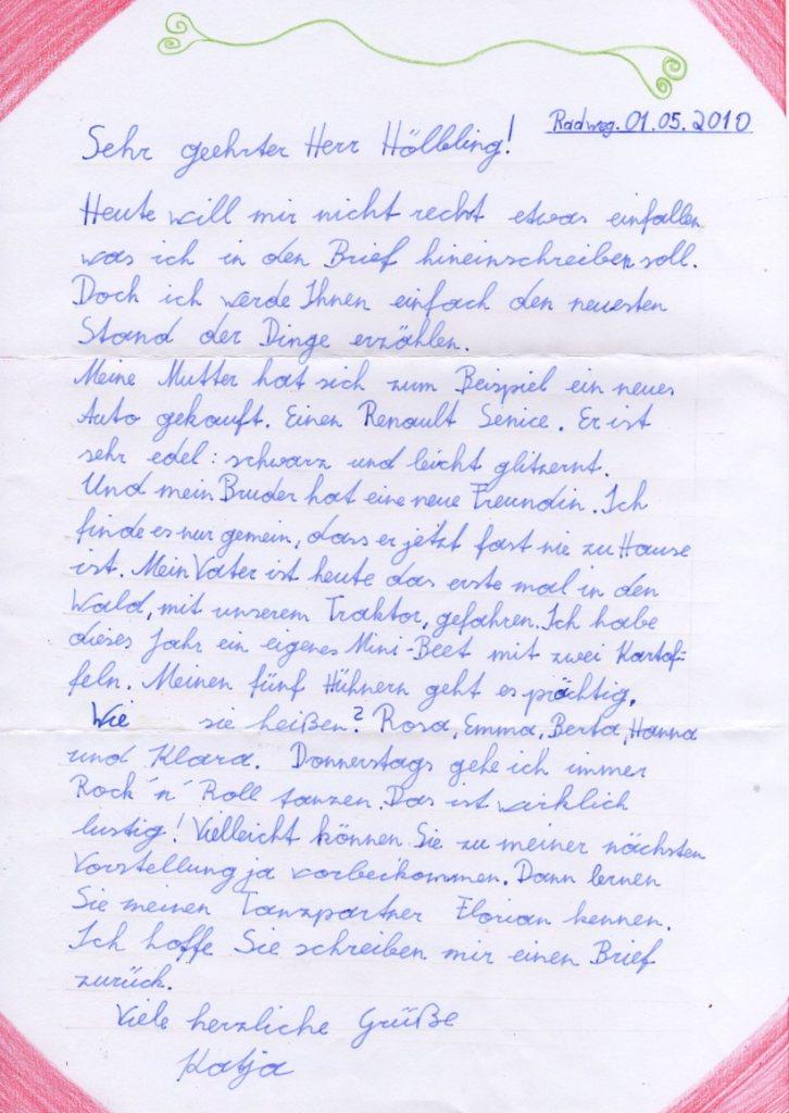 Neuemittelschulefeldkirchen Briefe An Die Lehrerin Bzw Den Lehrer