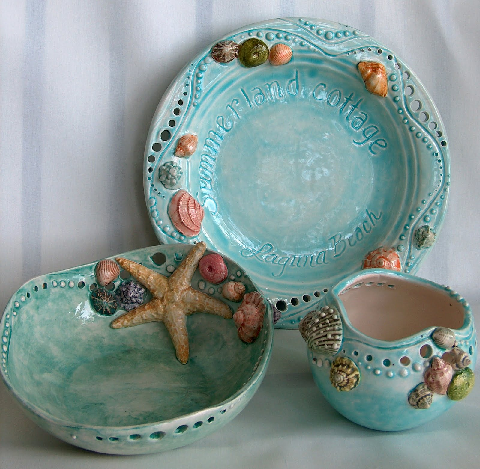 Summerland Cottage Studio Seas Ceramic Dish Designs & Beach House Dishes | The best beaches in the world