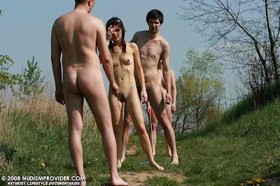 naturist skinny dipping nude