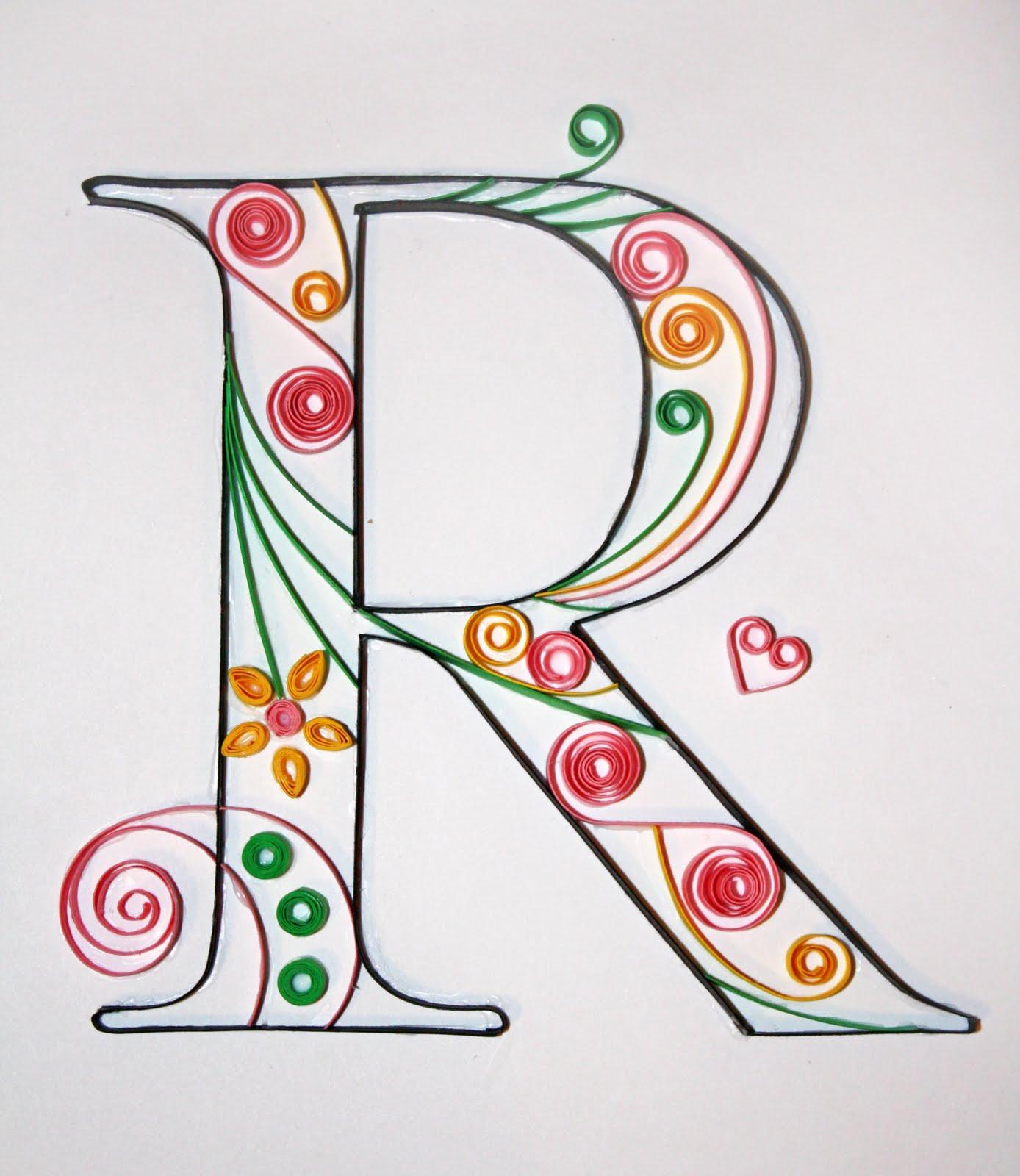 letter k quilling