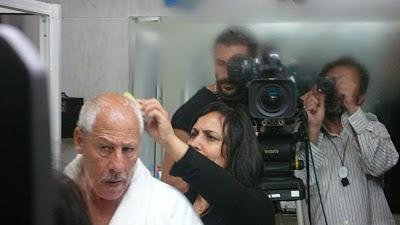 foto en camerino con Hakim Noury