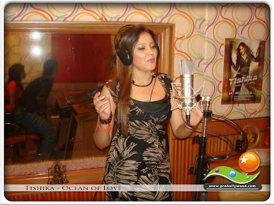Talented singer Tishika singing Salama Salama at Meet Bros Studio in Andheri, Bombay