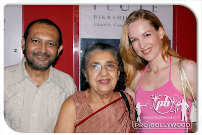 Actress Shammi Aunty with Suzanne Bernert and Akhil Mishra at STOP re-release