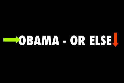 Obama Or Else postcard by Liza Cowan