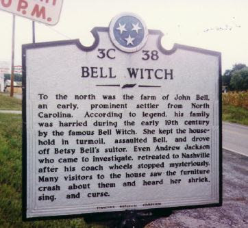 Bell Witch State Historical Marker