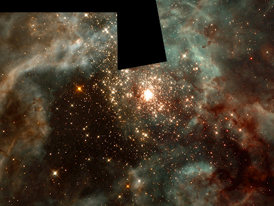 Cluster of massive stars in Nebula 30 Doradus