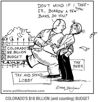 www.politixcartoons.com: Colorado's $18 Billion Budget