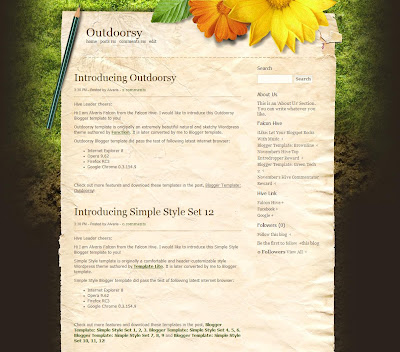 The Outdoorsy Blogger Theme