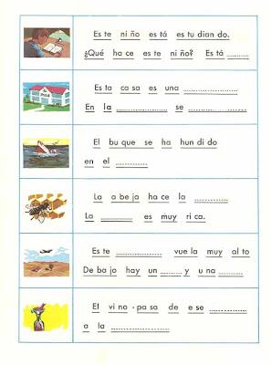 Practica Lectura Fichas Enseñar A Leer Fichas Palabras Y