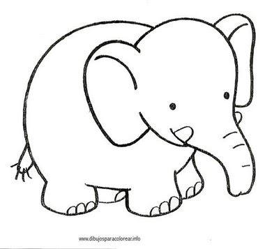 Colorear Elefante Africano Dibujos Para Colorear Y Pintar Gratis