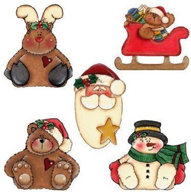 adornos navideos para el rbol de navidad reno osito con trineo pap noel osito y mueco de nieve