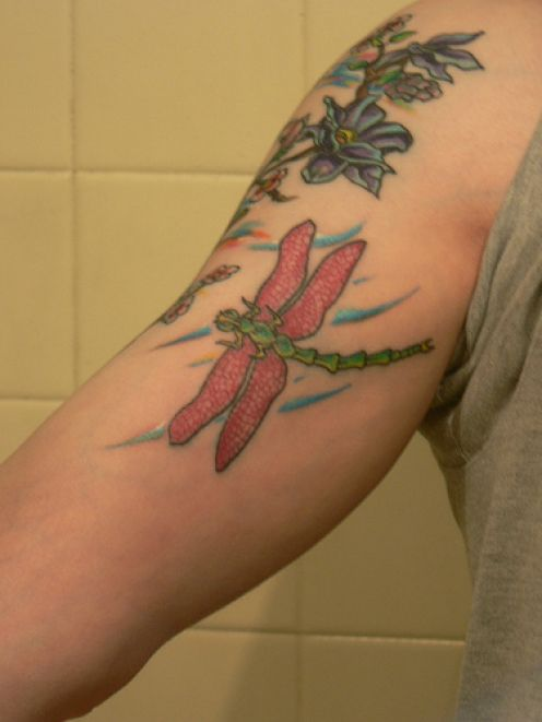 Tattoo Design: Dragonfly Tattoos Designs - photo#15