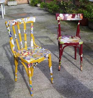 La terrazza creativa sedie colorate for Sedie legno colorate